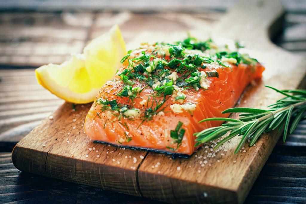Salmon Photo Credit: kajakiki (iStock).