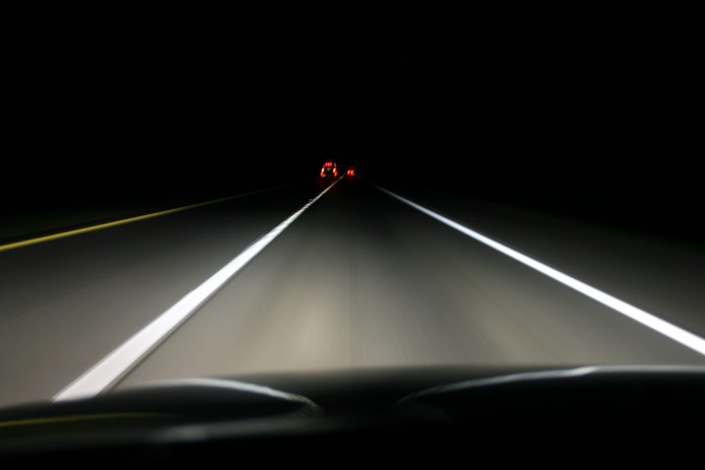 Driving at Night Photo Credit: John Trainor (Flickr).