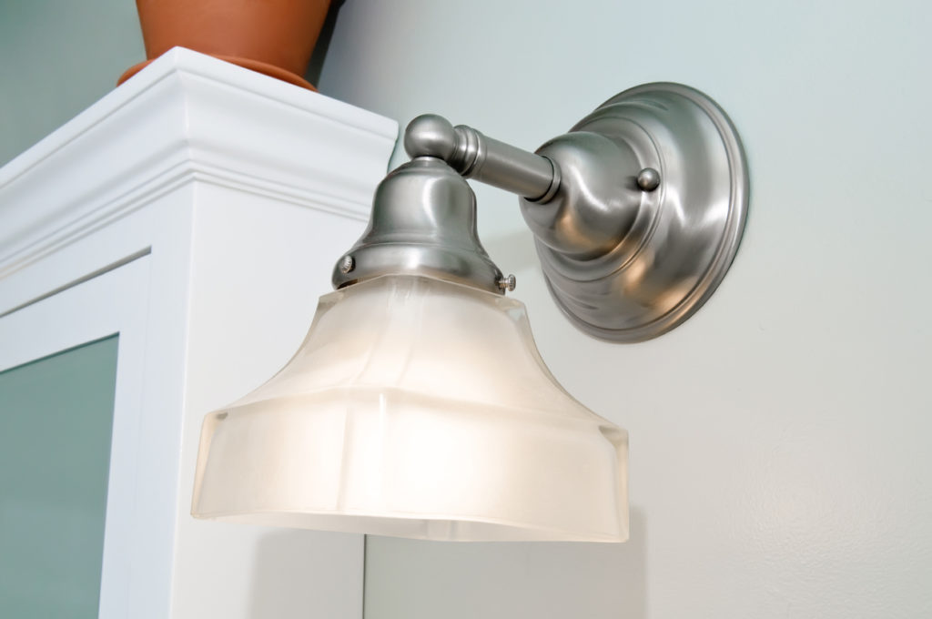 Bathroom Light Fixture Photo Credit: Credit: wmarkusen (iStock).