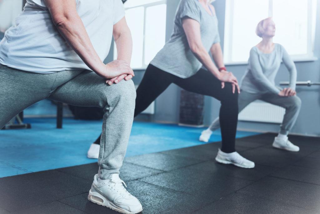 Seniors Exercising Photo Credit: yacobchuk (iStock).