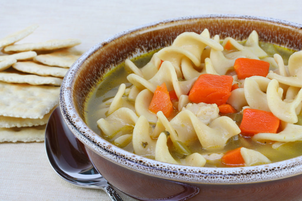 Chicken Noodle Soup, Photo Credit: rojoimages (iStock).