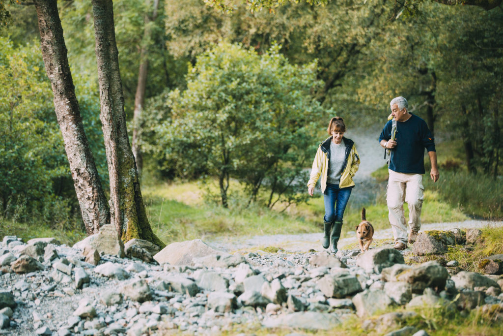Senior Couple Outdoors, Photo Credit: DGLimages (iStock)